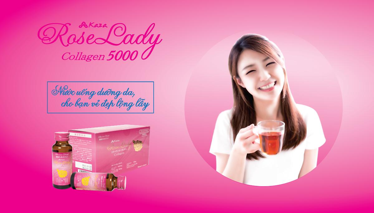Nước uống collagen Kaza Rose Lady